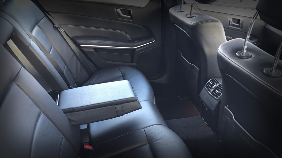 Executive White E Class - Interior (Back) - Up To 4 Passengers