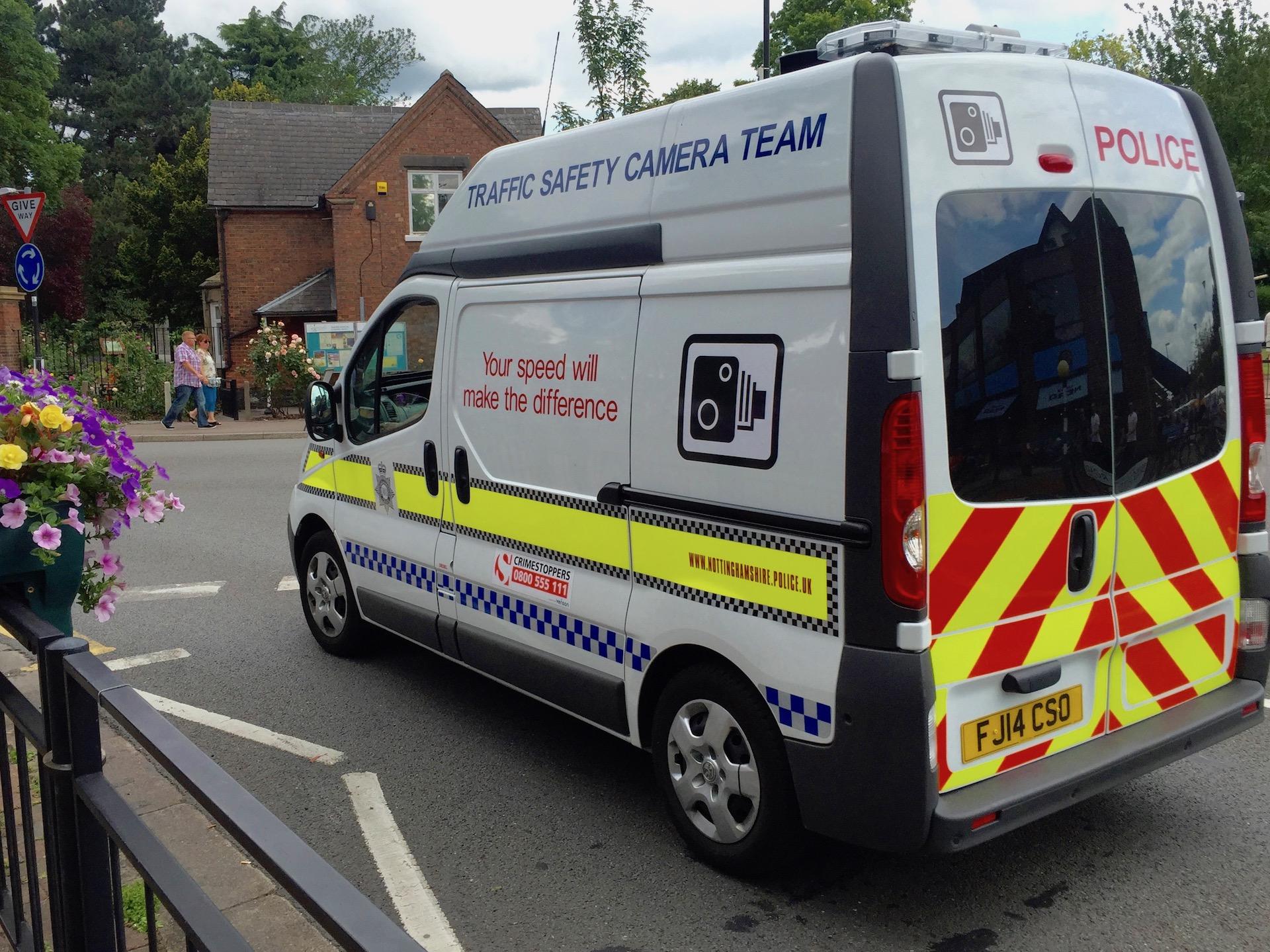 Mobile Speed Cameras in Nottingham Week Beginning November 27th