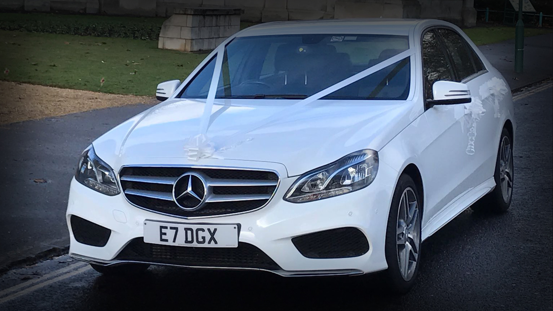 Executive White E Class - Front - Up To 4 Passengers